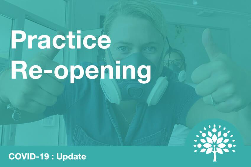 dental practice reopening